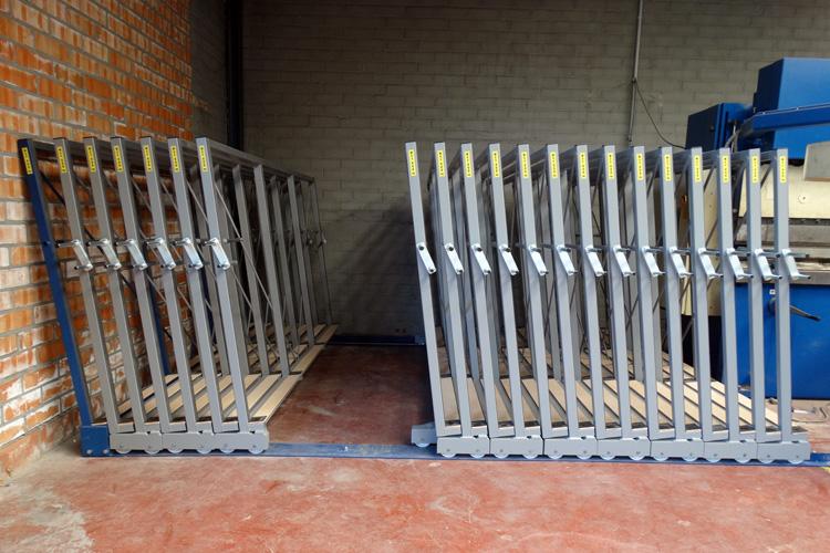 Mobile frames rack: manual - Eurostorage | Storage sheets and profiles