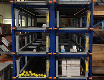 Compact storage of tubes bars profiles