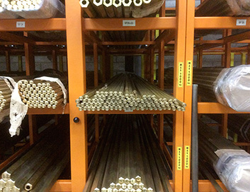 storage copper pipes extractible drawers