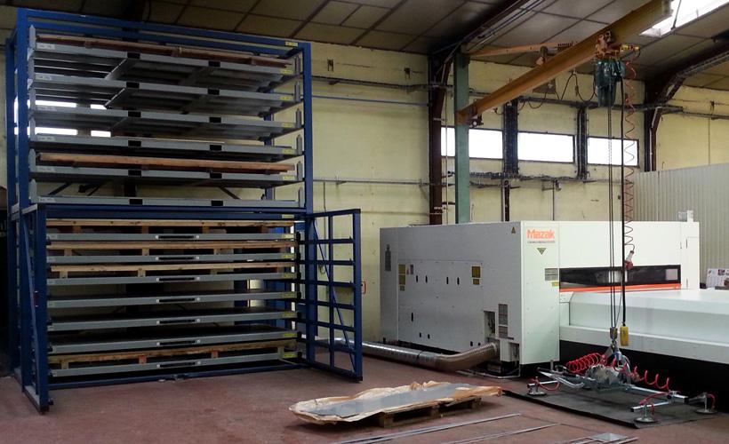 Metal Sheet Warehouse Rack Eurostorage Storage Sheets