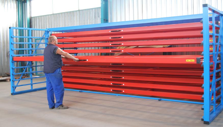 Photo 15 & Metal sheet rack horizontal - Eurostorage | Storage sheets and profiles