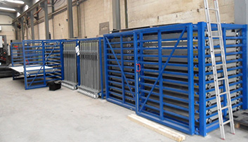 Safe, efficient storing and handling of metal sheets