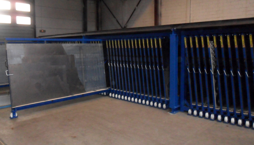 Metal Sheet Rack Vertical Eurostorage Storage Sheets